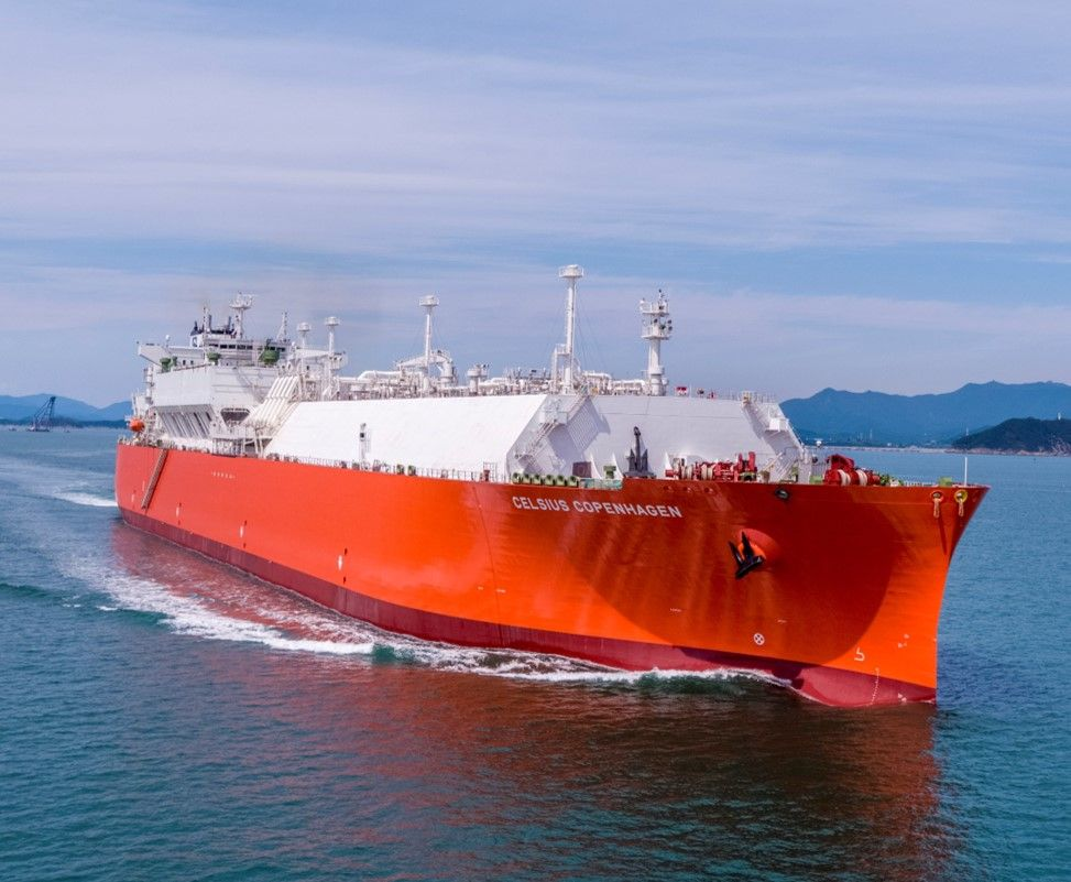 Celsius takes delivery of first LNG tanker