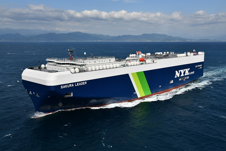 NYK takes delivery of Japan's first LNG PCTC
