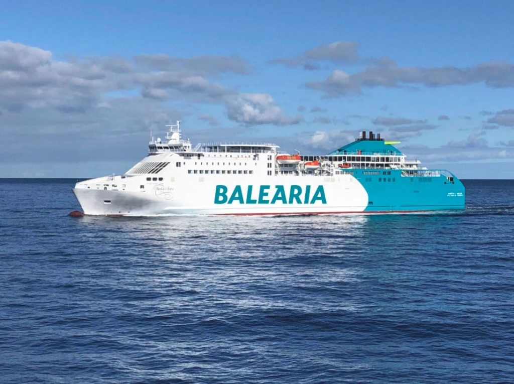 Balearia's ferry gets LNG fuel tank
