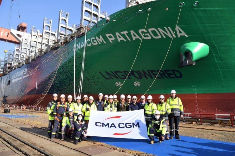 Jiangnan launches first CMA CGM 15,000 TEU LNG newbuild