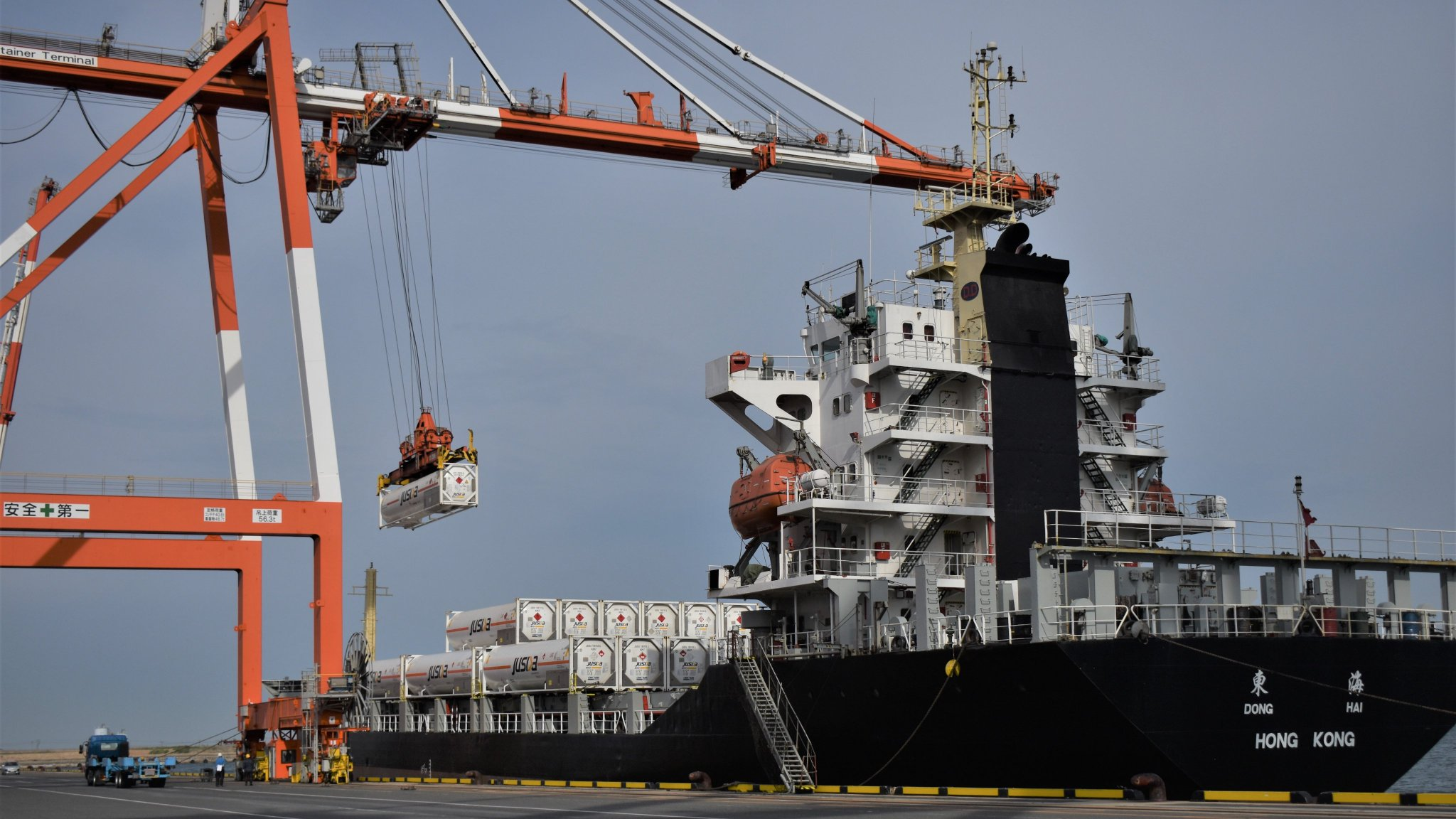 Japan's Saibu Gas shipping LNG in ISO containers to China