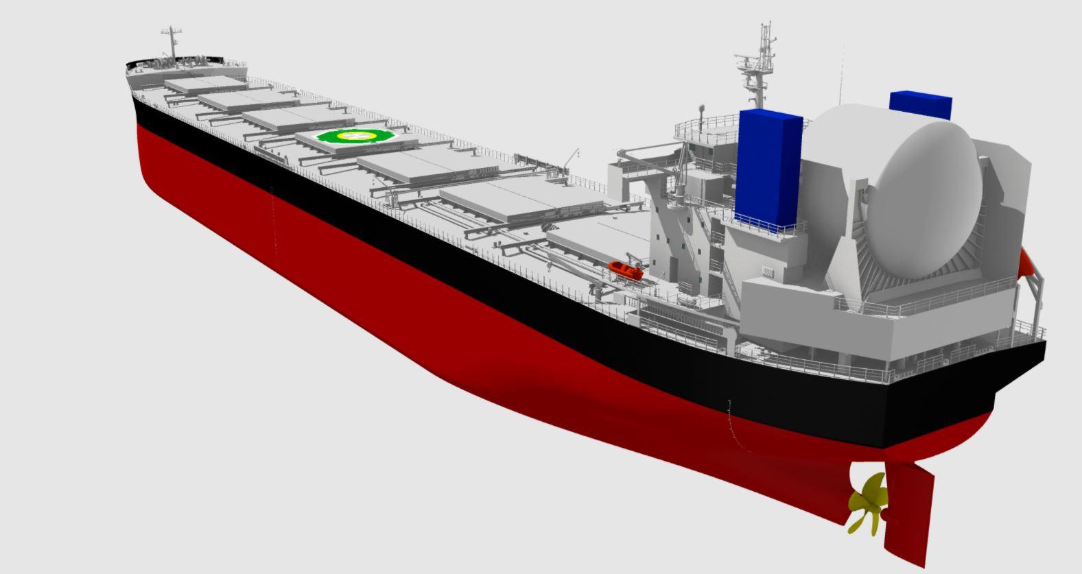 Japan's Tsuneishi reveals LNG-powered Kamsarmax