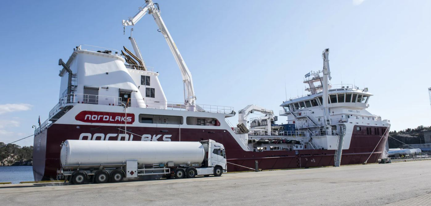 Norway's Gasnor starts LNG supplies to Nordlaks fish carrier