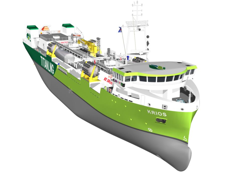 Titan plans to supply bio-LNG with new bunkering vessel in 2023