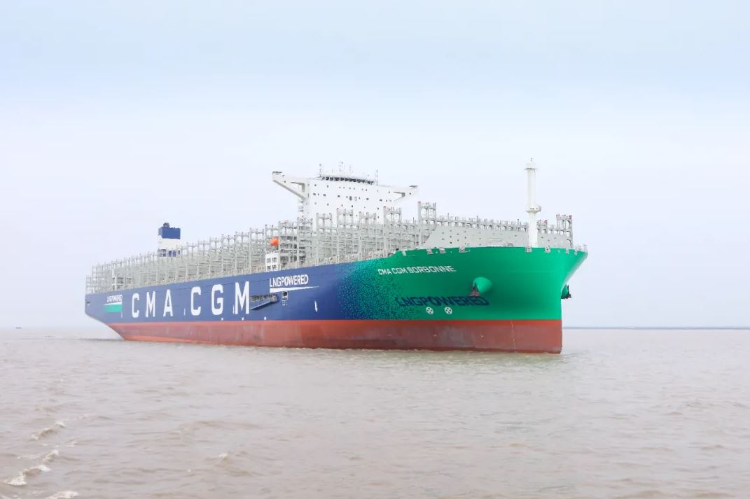 CMA CGM takes delivery of 9th LNG-powered giant in China