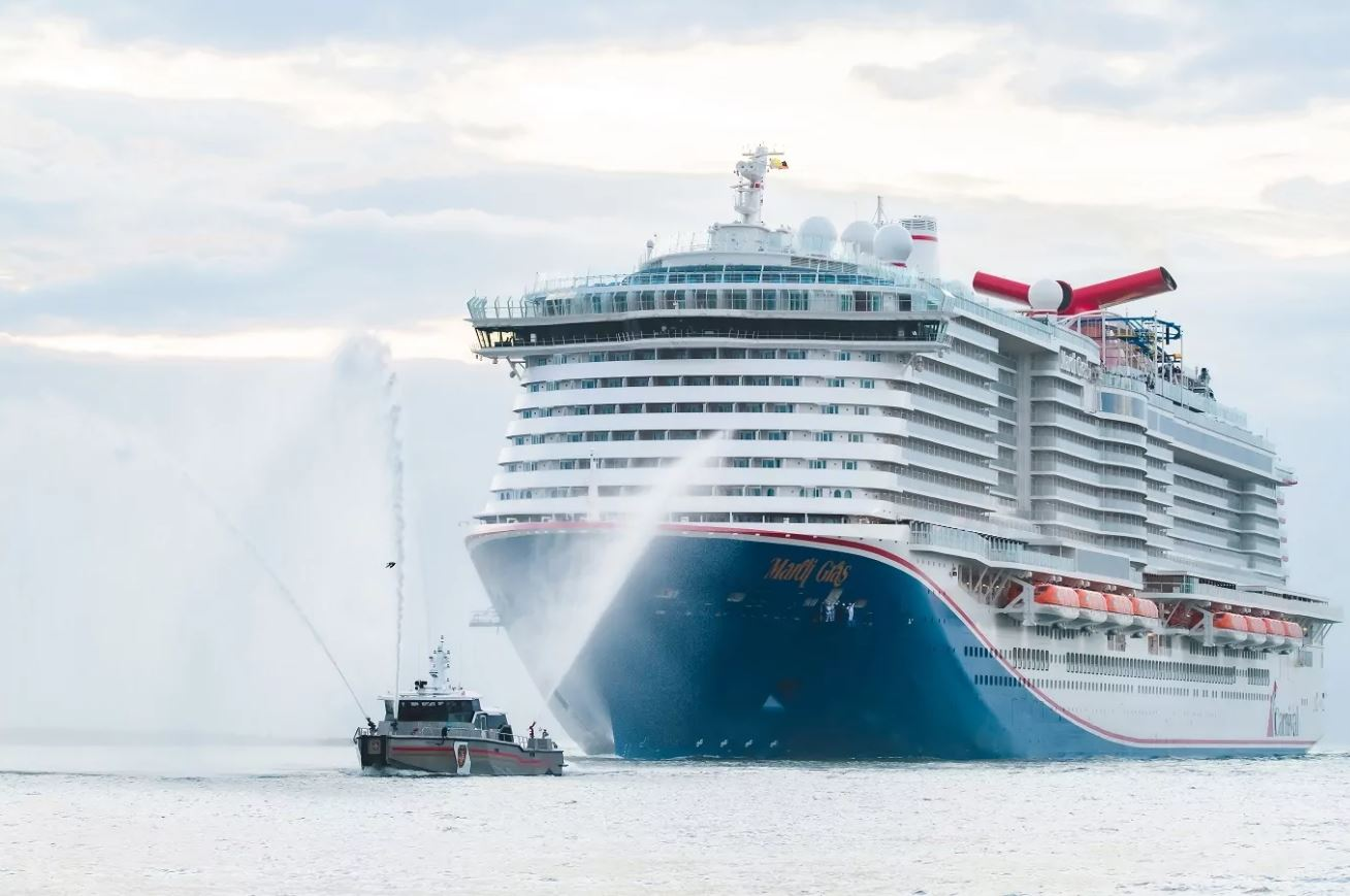 Carnival's LNG-powered Mardi Gras finally arrives in Port Canaveral