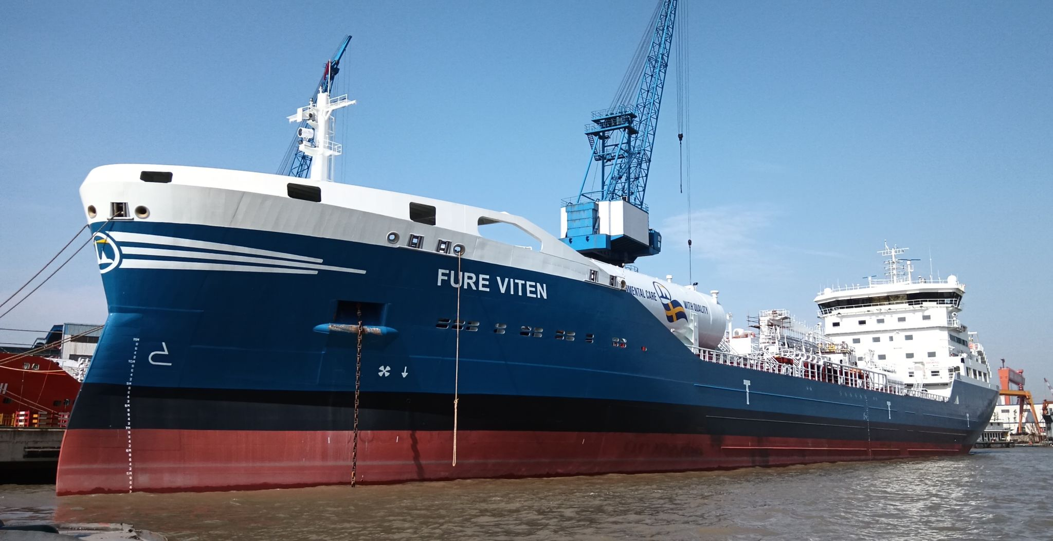 Swedish LNG-powered tanker set for maiden voyage to Europe