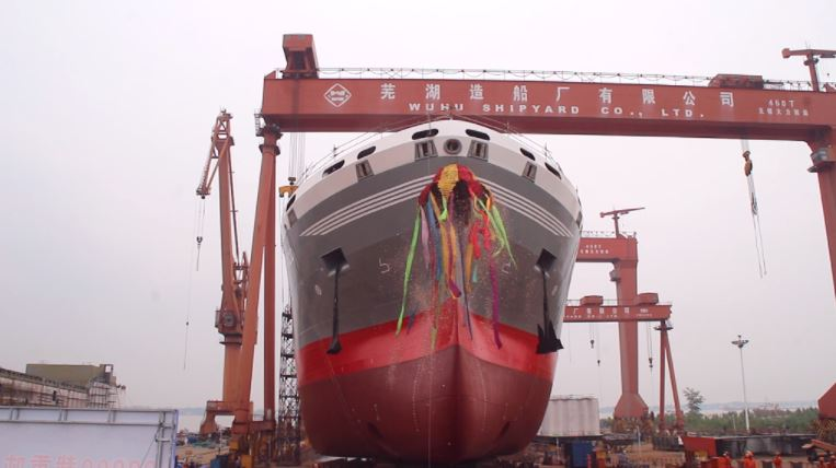 Wuhu launches Donsotank's 2nd LNG-powered vessel