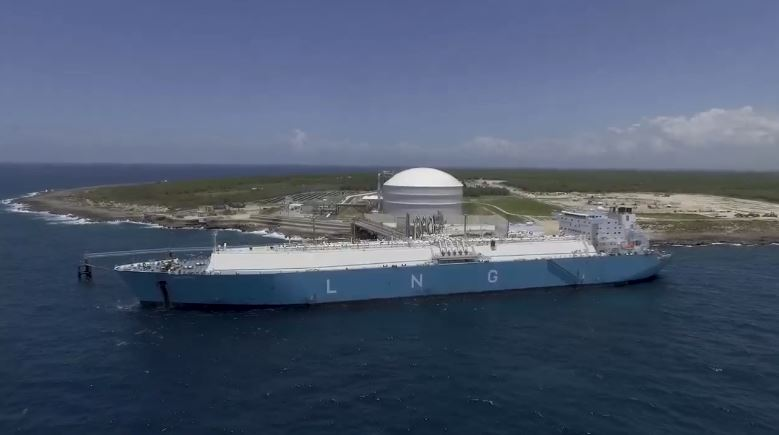 AES says gets first carbon-neutral LNG cargo at Dominican terminal