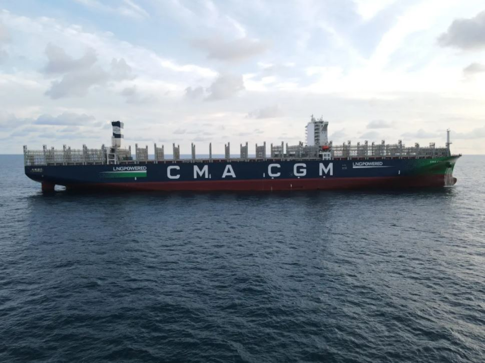 CMA CGM's LNG-powered Patagonia wraps up sea trials in China