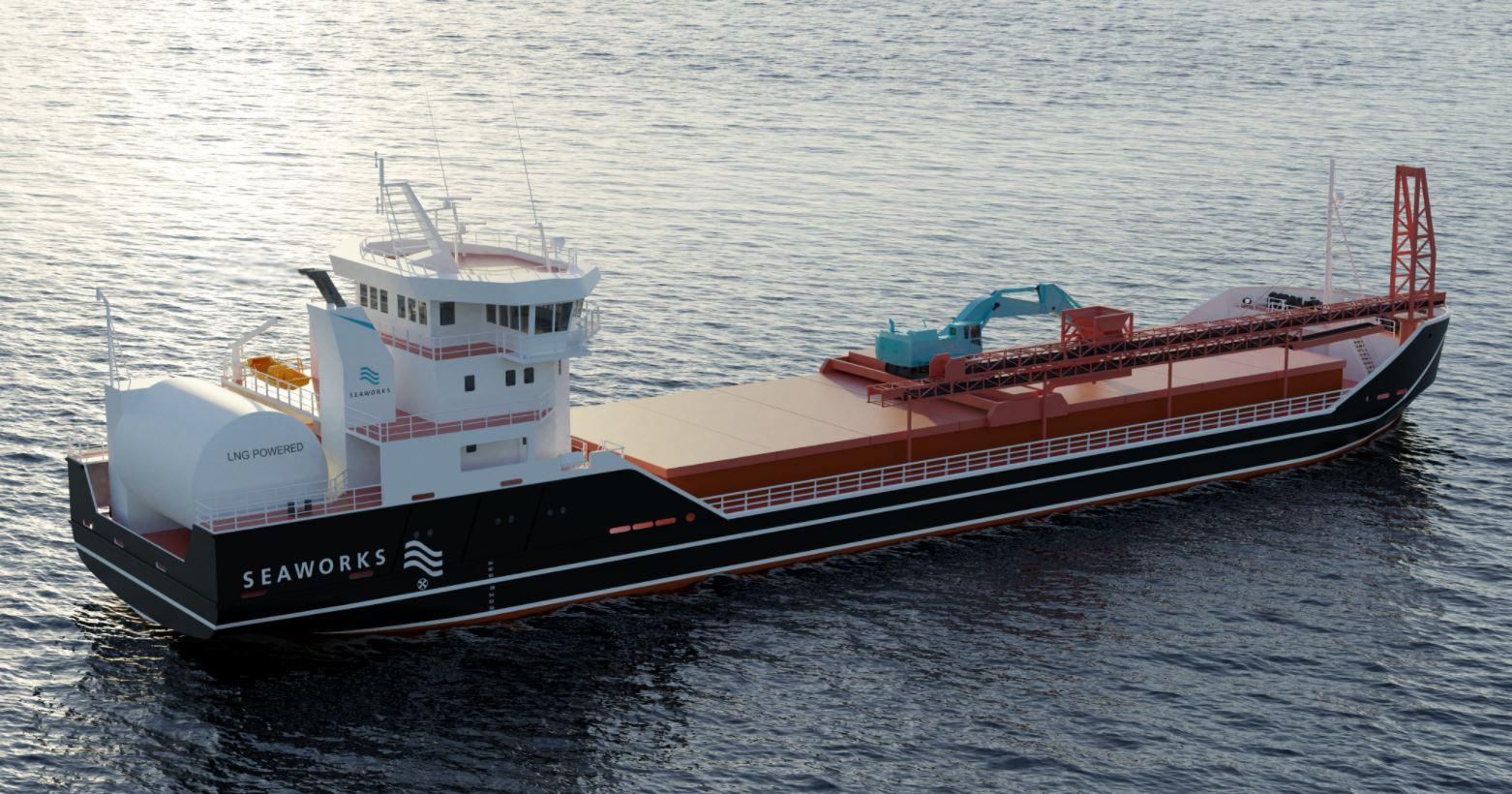 Kongsberg to supply LNG propulsion for Seaworks' bulker