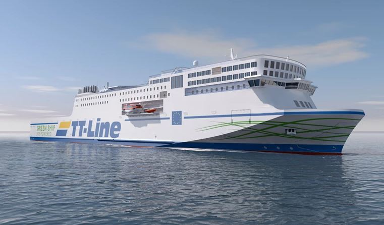 TT-Line's second LNG-powered ferry launched