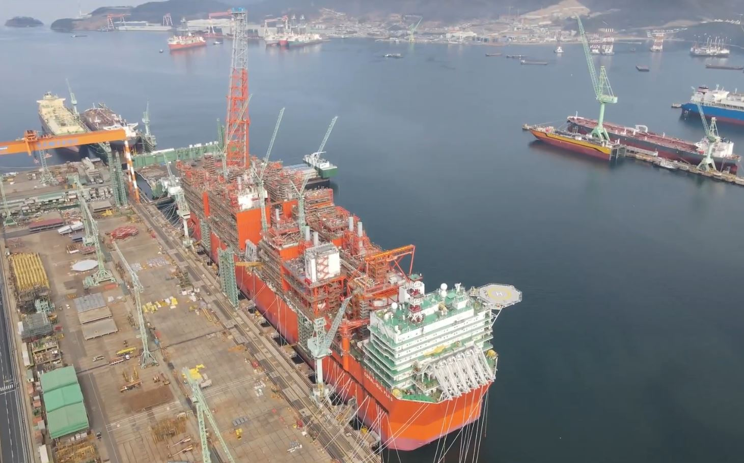Technip Energies Eni's Coral FLNG on track to leave yard by year-end