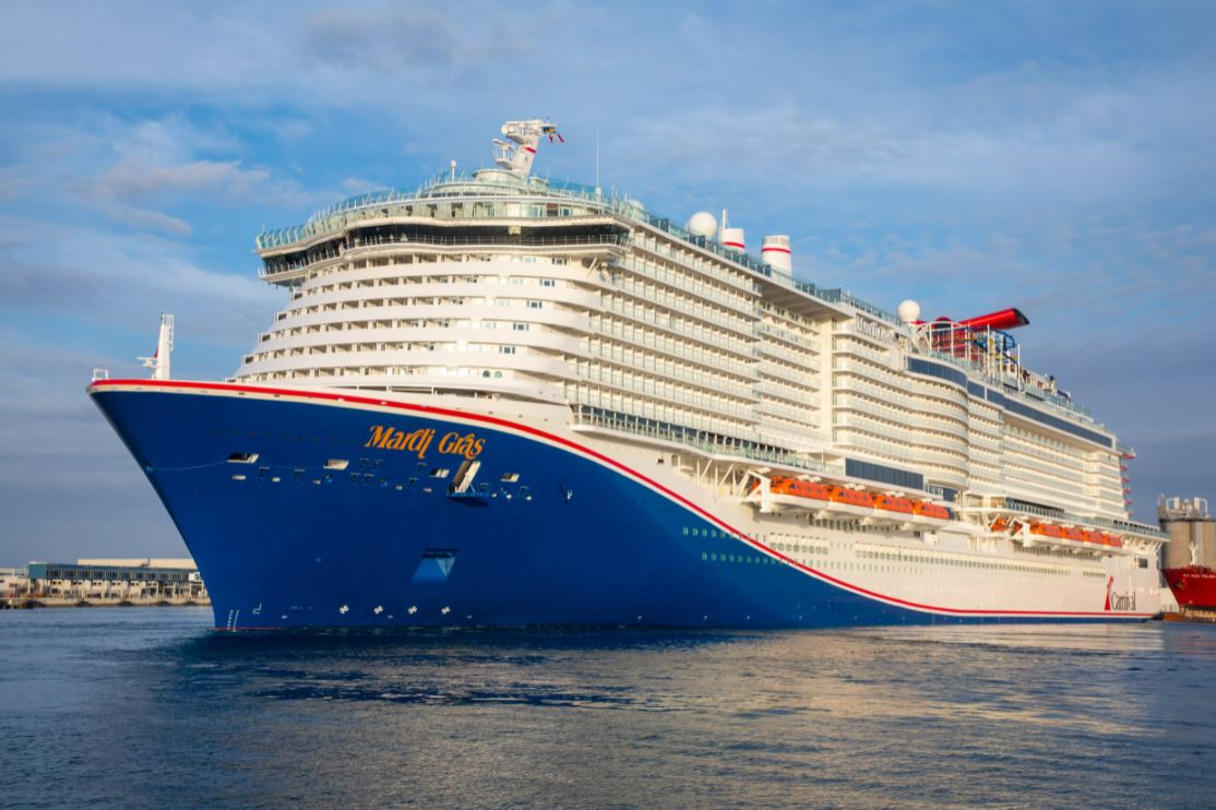 Carnival's LNG-powered Mardi Gras sets out on maiden voyage