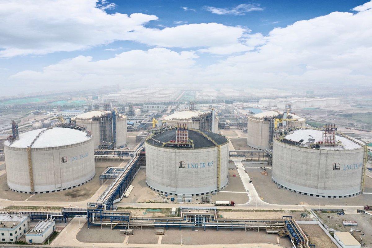China's Sinopec boosts capacity at Qingdao LNG terminal
