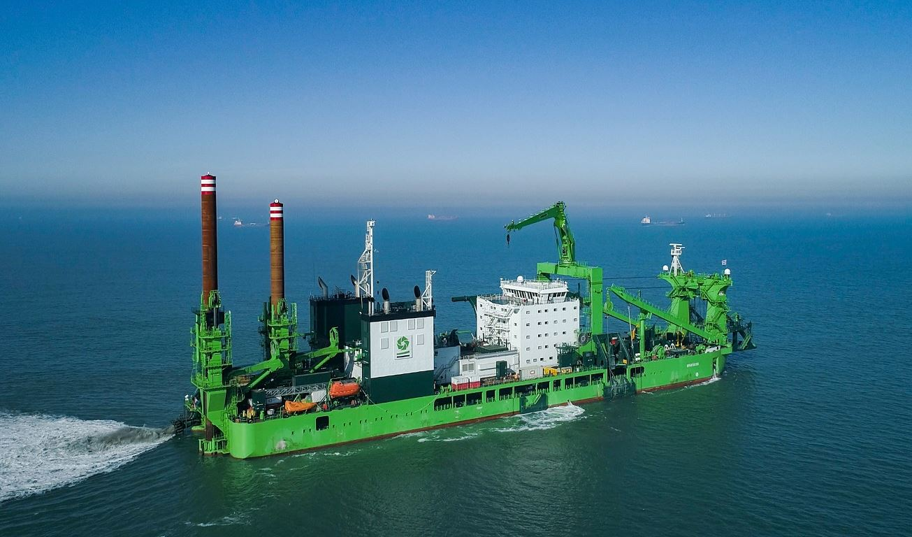 DEME welcomes large LNG-powered dredger in its fleet