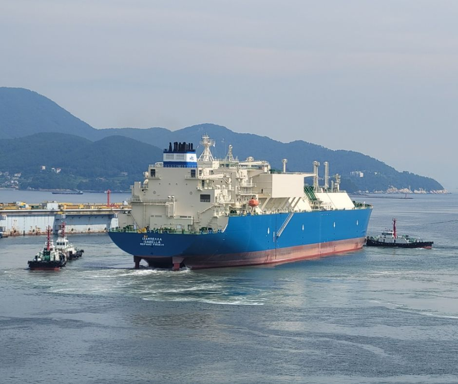 DSME delivers new LNG carrier to Greece's Maran Gas