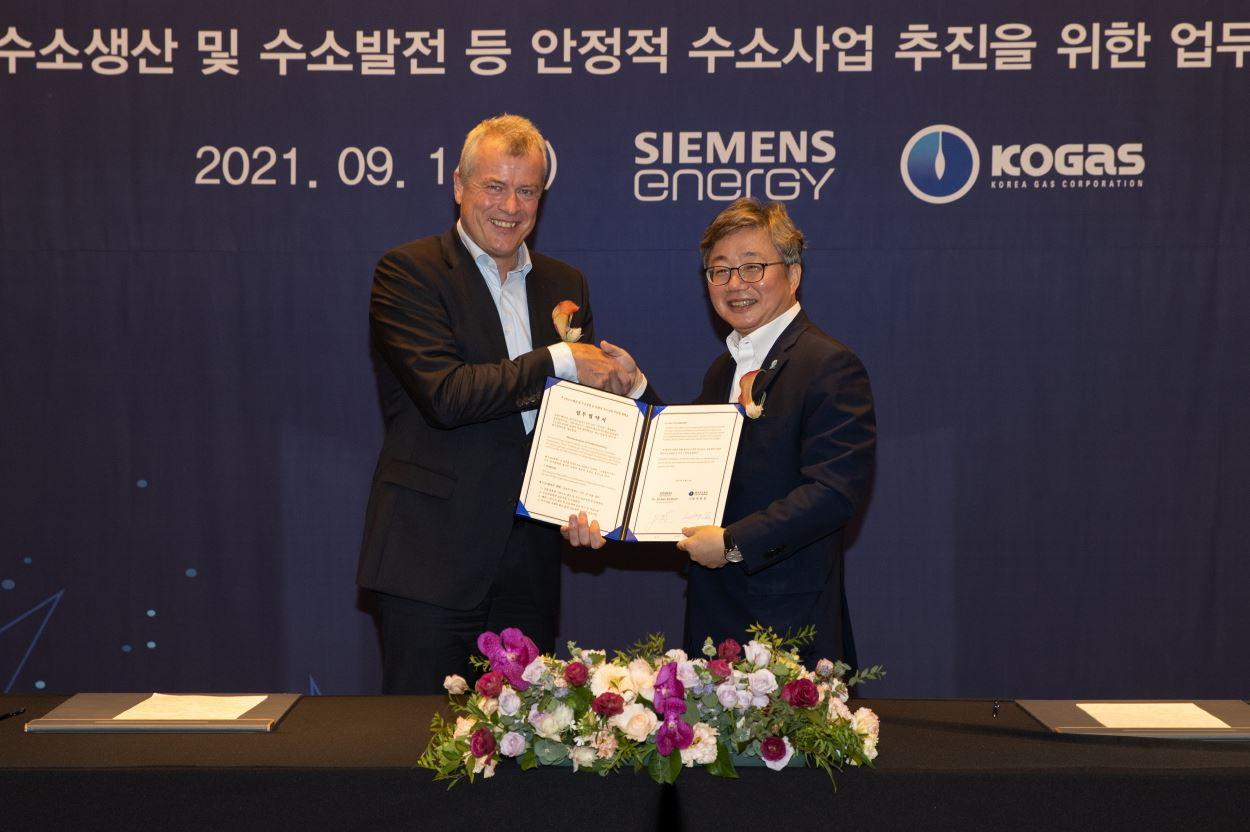 Kogas, Siemens ink hydrogen pact