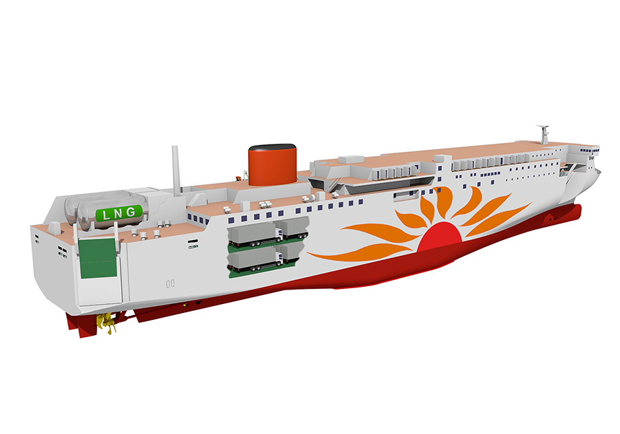 MOL wraps up financing for Japan's first LNG-powered ferries