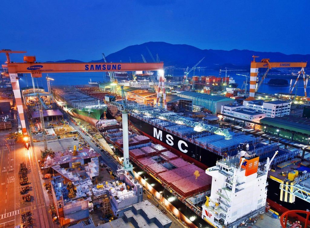 Samsung Heavy scores new order for LNG-powered containerships